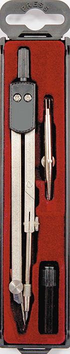 Perfecta Готовальня Studio цвет черный72523WDГотовальня от Herlitz Studio включает в себя 3 предмета: металлический циркуль, с коленным соединением и подстраиваемой иглой, рейсфедер и запасной грифель.Благодаря высокому качеству материалов и сборки, надежный чертежный инструмент от Herlitz прослужат вам много лет. Отличный выбор и для учащихся, и для профессионалов. Предметы упакованы в пластиковый футляр с прозрачной крышкой и с красной бархатистой подложкой.