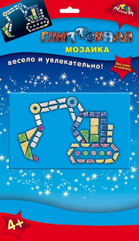 Апплика Мозаика Экскаватор мозаика апплика мозаика голографическая формат а6 кот