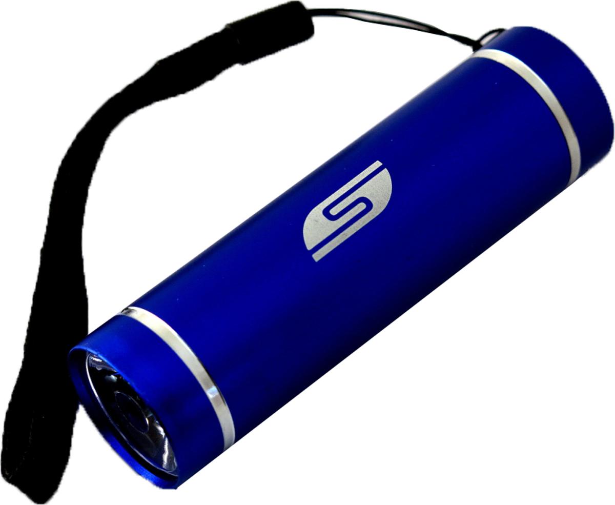 Фонарь SolarisT-5, ручной, цвет: синий3108blueКарманный фонарь, подходит для ежедневного ношения. Фонарь выполнен из качественного алюминия с защитным анодированием корпуса. Влагозащищённый - стандарт IPX6. Фонарь снабжен современным светодиодом мощностью 1 Ватт. Мощность светового потока 60 люмен, дальность эффективного излучения света 100 метров. Благодаря длине всего 9 сантиметров и малому весу фонарь идеально подходит для ежедневного ношения в качестве карманного. Кнопка включения в хвостовой части фонаря утоплена в корпус, что исключает случайное нажатие в кармане. Коллиматорная линза направленного действия и светодиод мощностью 1 Ватт обеспечивают фонарю очень приличную дальность освещения 100 метров. Фонарь может применяться в качестве запасного туристического фонаря и источника света для бытовых нужд. Особенности конструкции и эксплуатации фонаря SOLARIS T-5: - Один режим работы фонаря. - Кнопка включения расположена в хвостовой части фонаря. - Фонарь работает от 3-х батарей ААА (в комплект не входят). Кассета для батареек прилагается, находится внутри фонаря. - Время работы фонаря от 3-х батарей ААА: 5 часов. Размеры фонаря: 9 см х 2,6 см.