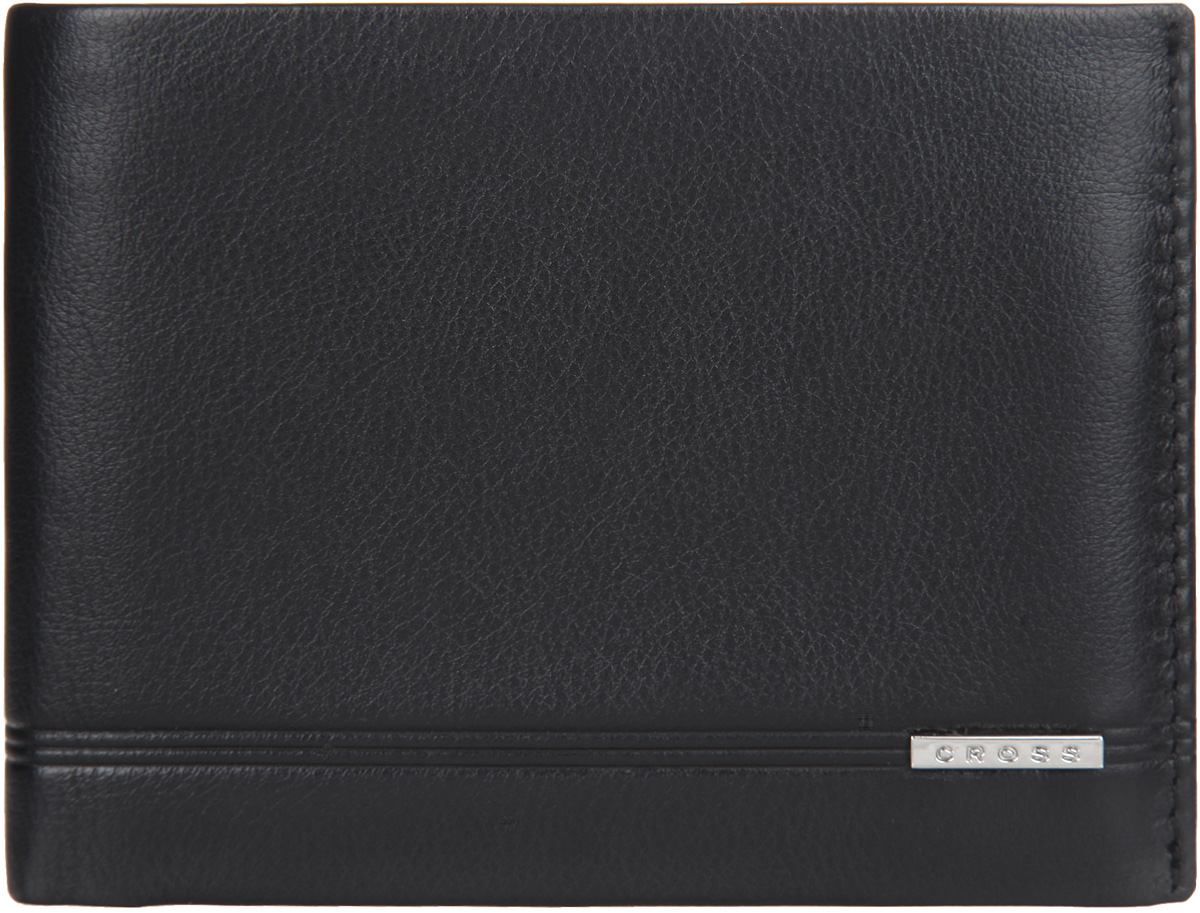 Кошелек мужской Cross, цвет: черный. AC018065-1W16-11135_914Стильный мужской кошелек Cross изготовлен из натуральной кожи и оформлен металлической пластиной с символикой бренда.Изделие раскладывается пополам. Внутри расположены три прорезных потайных кармана, два отделения для купюр, шесть карманов для кредитных карт. Кошелек оснащен съемным блоком, который включает в себя кармашек с прозрачной вставкой и карман для пластиковой кары. Снаружи, на задней стороне, изделия расположен дополнительный прорезной кармашек. Изделие поставляется в фирменной упаковке.Практичный кошелек непременно подойдет к вашему образу, а также порадует простотой, стилем и функциональностью.