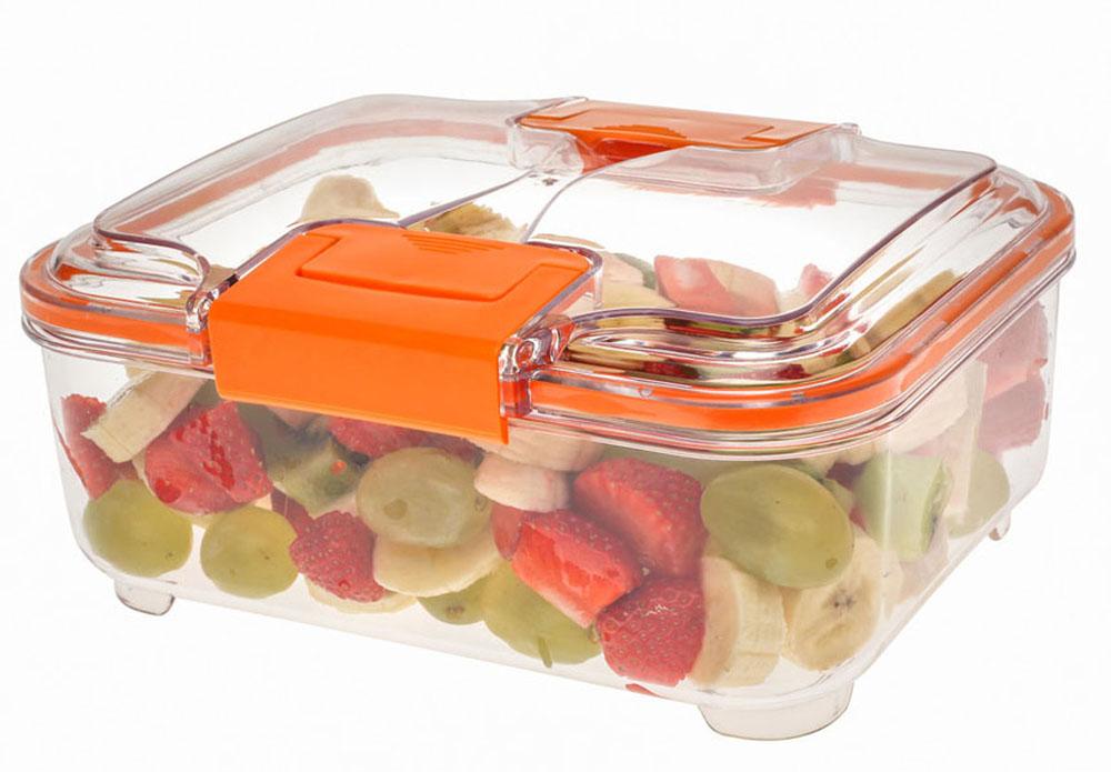 Контейнер Status RC15, цвет: прозрачный, оранжевый, 1,5 л81030Контейнер Status RC15 изготовлен из прочного хрустально-прозрачного тритана, рекомендован для хранения следующих продуктов: фрукты, овощи, хлеб, колбасы, сыры, сладости, соусы, супы.Допускается замораживание (до -21 °C), мойка контейнера в посудомоечной машине, разогрев в СВЧ (без крышки).Объем контейнера: 1,5 л.Размер: 21 х 17 х 9,5 см.