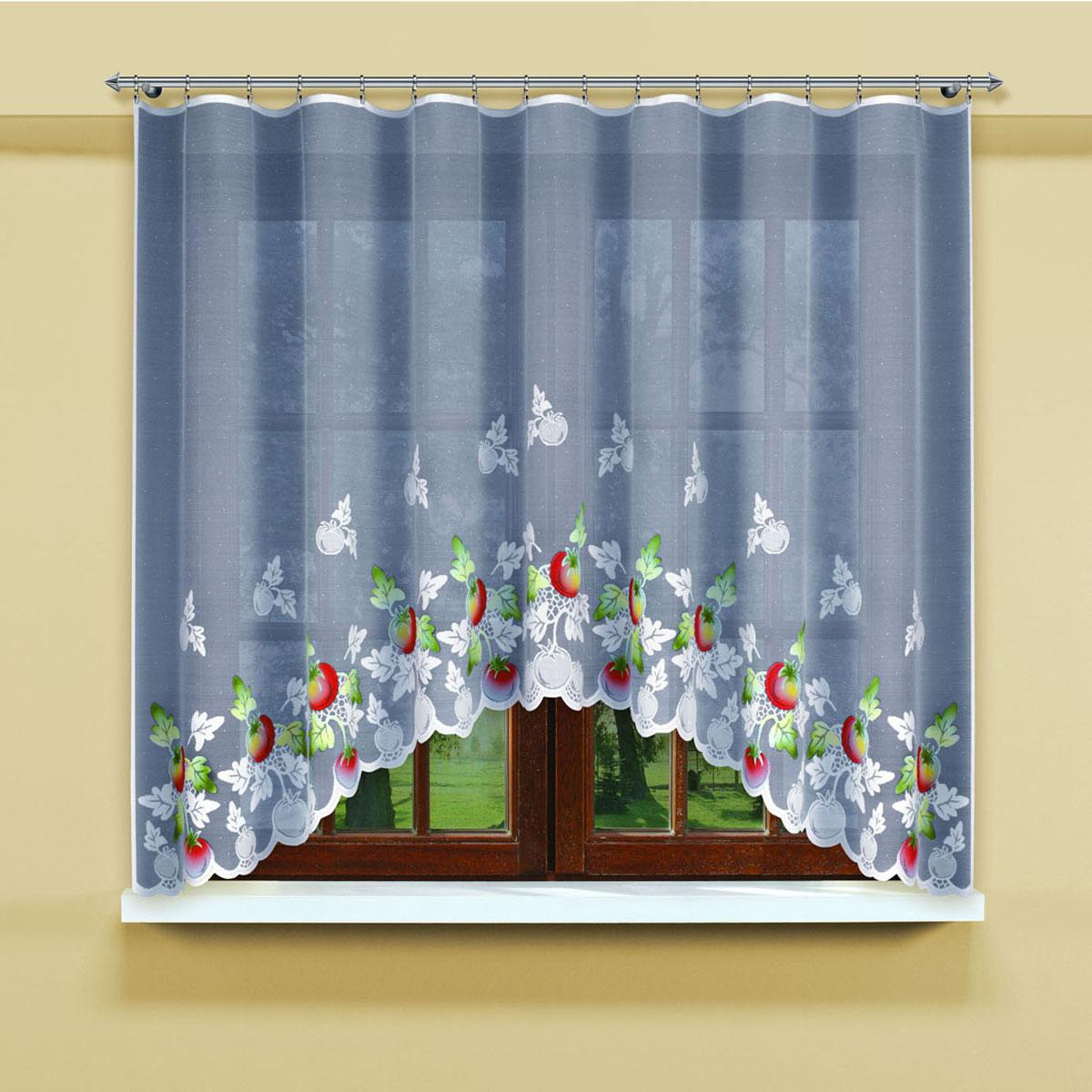Гардина Haft, цвет: белый, ширина 300 см, высота 160 см. 202690/160SVC-300Белая гардина из жаккардовой ткани с крашенным рисунком помидорокРазмеры: высота 160см*ширина 300см