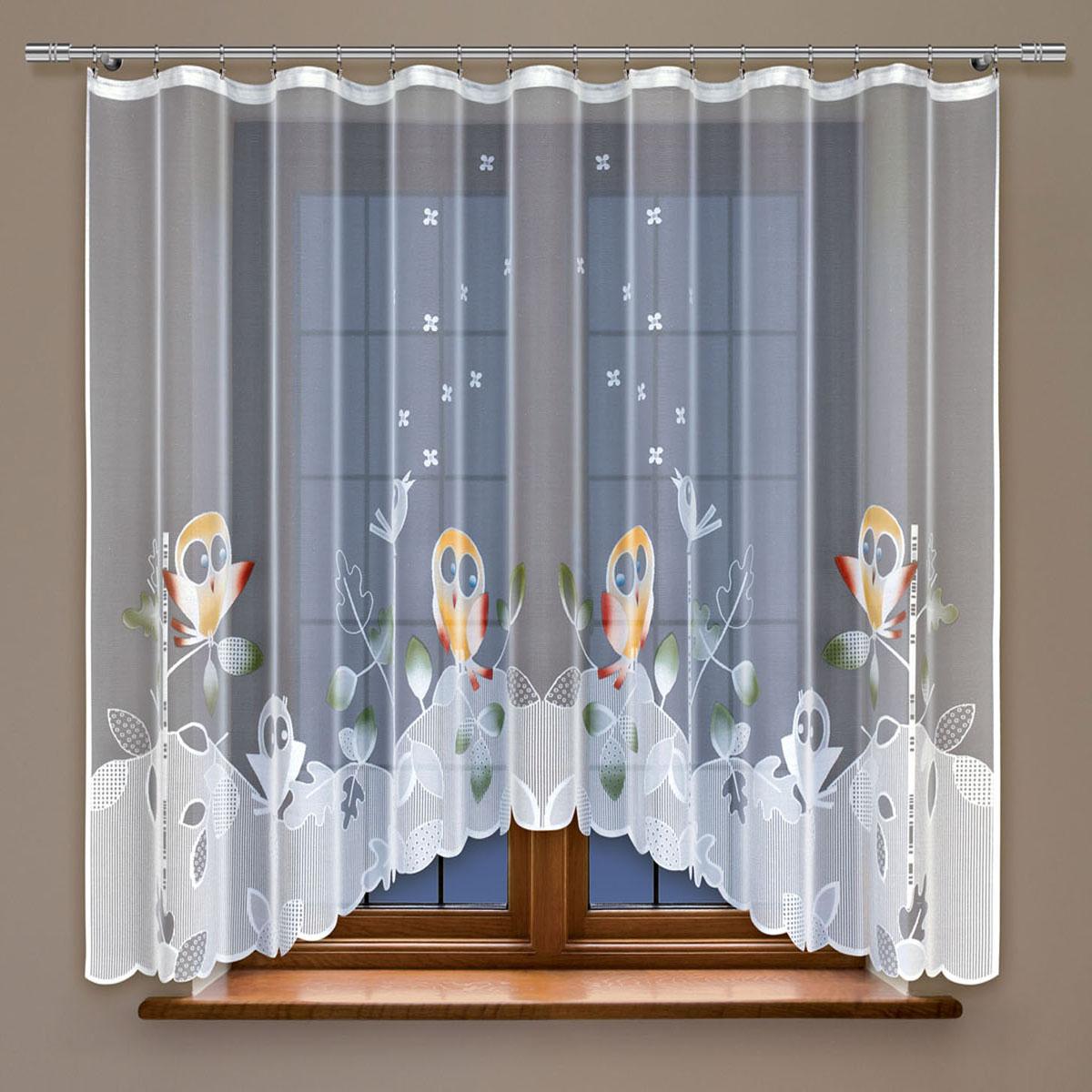 Гардина Haft, на ленте, цвет: белый, высота 160 см. 213970SVC-300Гардина Haft, изготовленная из полиэстера, станет великолепным украшением любого окна. Тонкое плетение и оригинальный дизайн привлекут к себе внимание. Изделие органично впишется в интерьер. Гардина крепится на карниз при помощи ленты, которая поможет красиво и равномерно задрапировать верх.