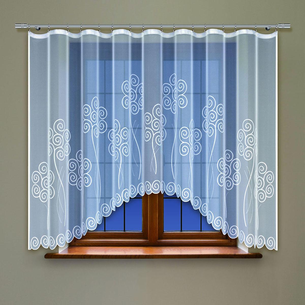 Гардина Haft, цвет: белый, ширина 300 см, высота 160 см. 214150/16088872Жаккардовая гардина-арка белого цвета Размеры: высота 160см * ширина 300см
