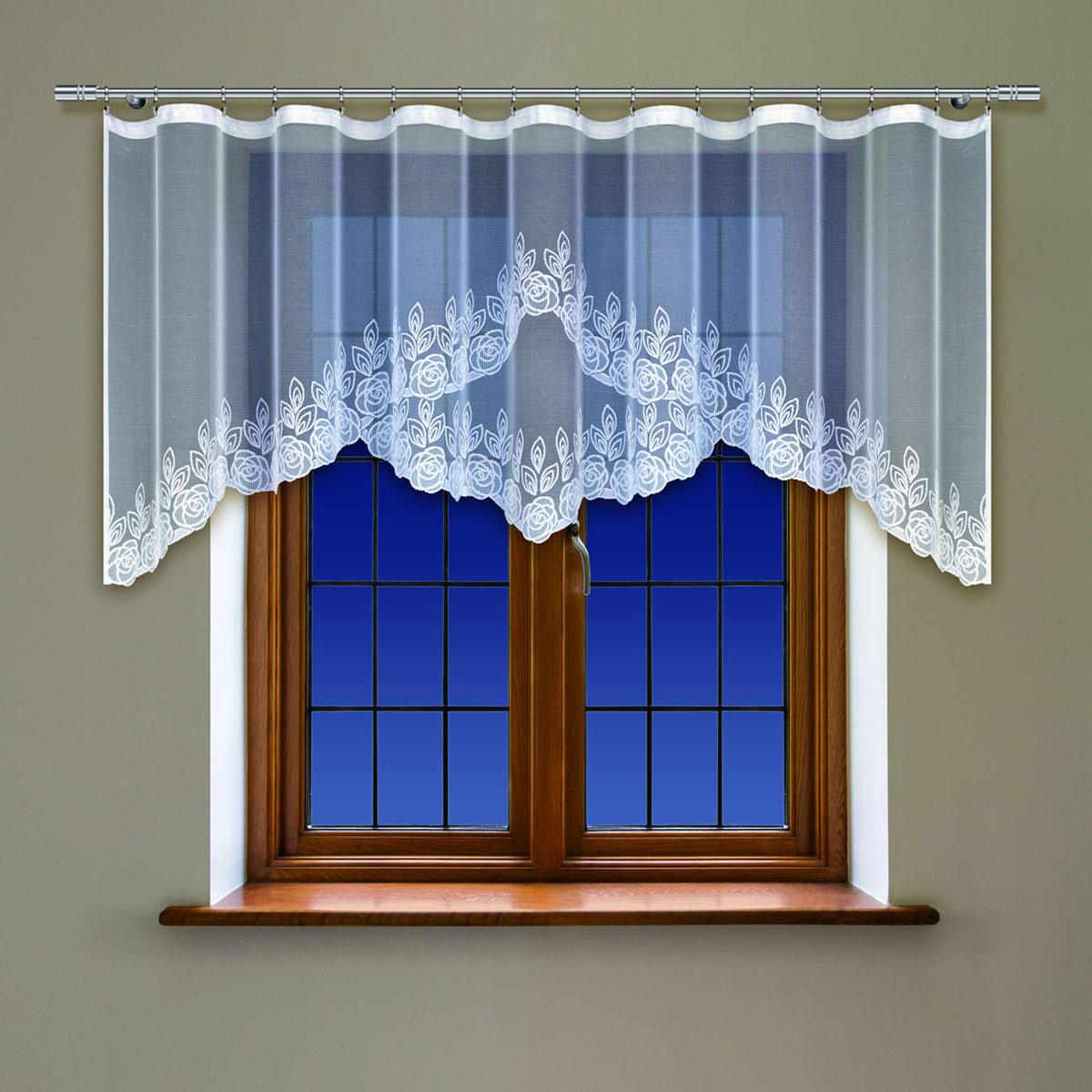 Гардина Haft, на ленте, цвет: белый, высота 90 см. 2142505383D/60Гардина Haft, изготовленная из полиэстера, станет великолепным украшением любого окна. Тонкое плетение и оригинальный дизайн привлекут к себе внимание. Изделие органично впишется в интерьер. Гардина крепится на карниз при помощи ленты, которая поможет красиво и равномерно задрапировать верх.