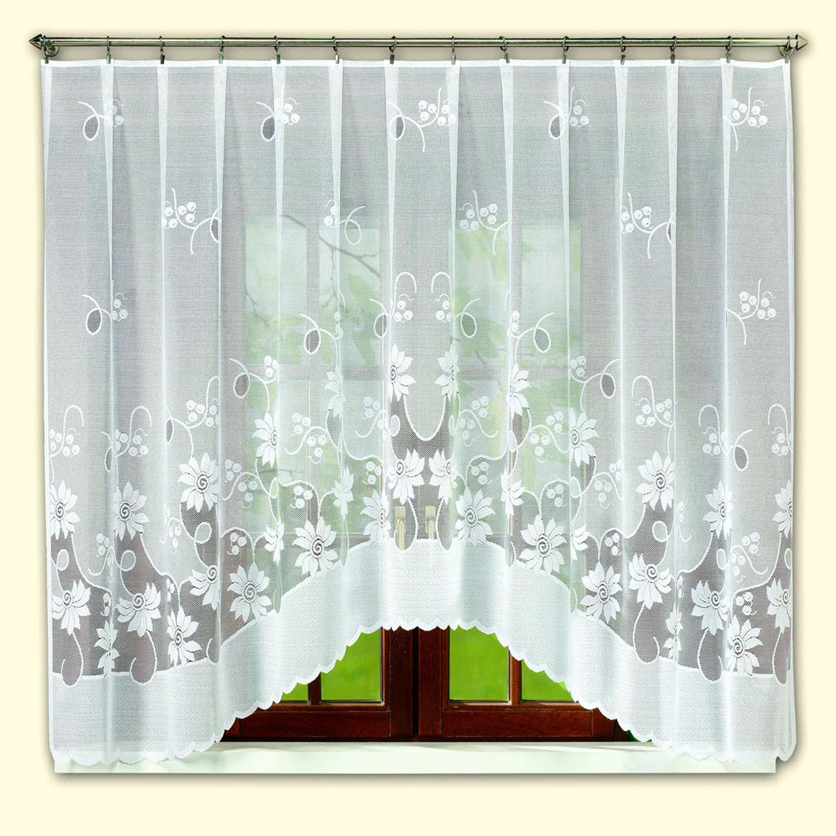 Гардина Haft, цвет: белый, высота 145 см. 46171/1454617/175Гардина Haft изготовленная из полиэстера, станет изюминкой интерьера вашей комнаты.
