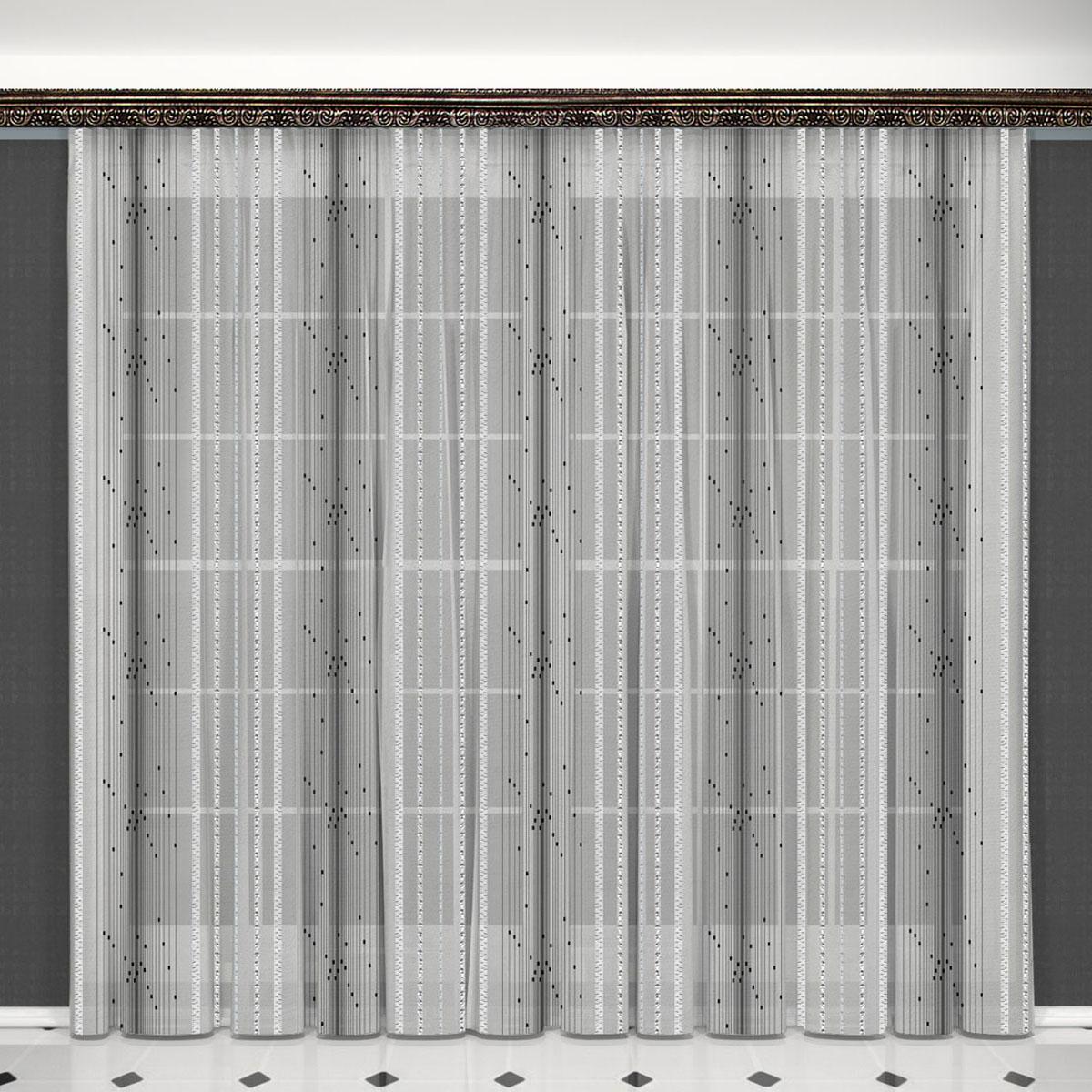 Гардина Zlata Korunka, на ленте, цвет: серый, высота 260 см. 5563304229-ФТ-ВЛ-001Воздушная гардина Zlata Korunka, изготовленная из высококачественного полиэстера, станет великолепным украшением любого окна. Оригинальное оформление гардины внесет разнообразие и подарит заряд положительного настроения.Крепится при помощи шторной ленты.
