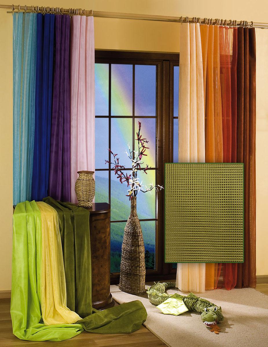 Гардина Wisan, цвет: оливковый, ширина 150 см, высота 250 см956251325Гардина-тюль из жесткой сеточки, с вшитой шторной лентой.Размеры: ширина 150* высота 250
