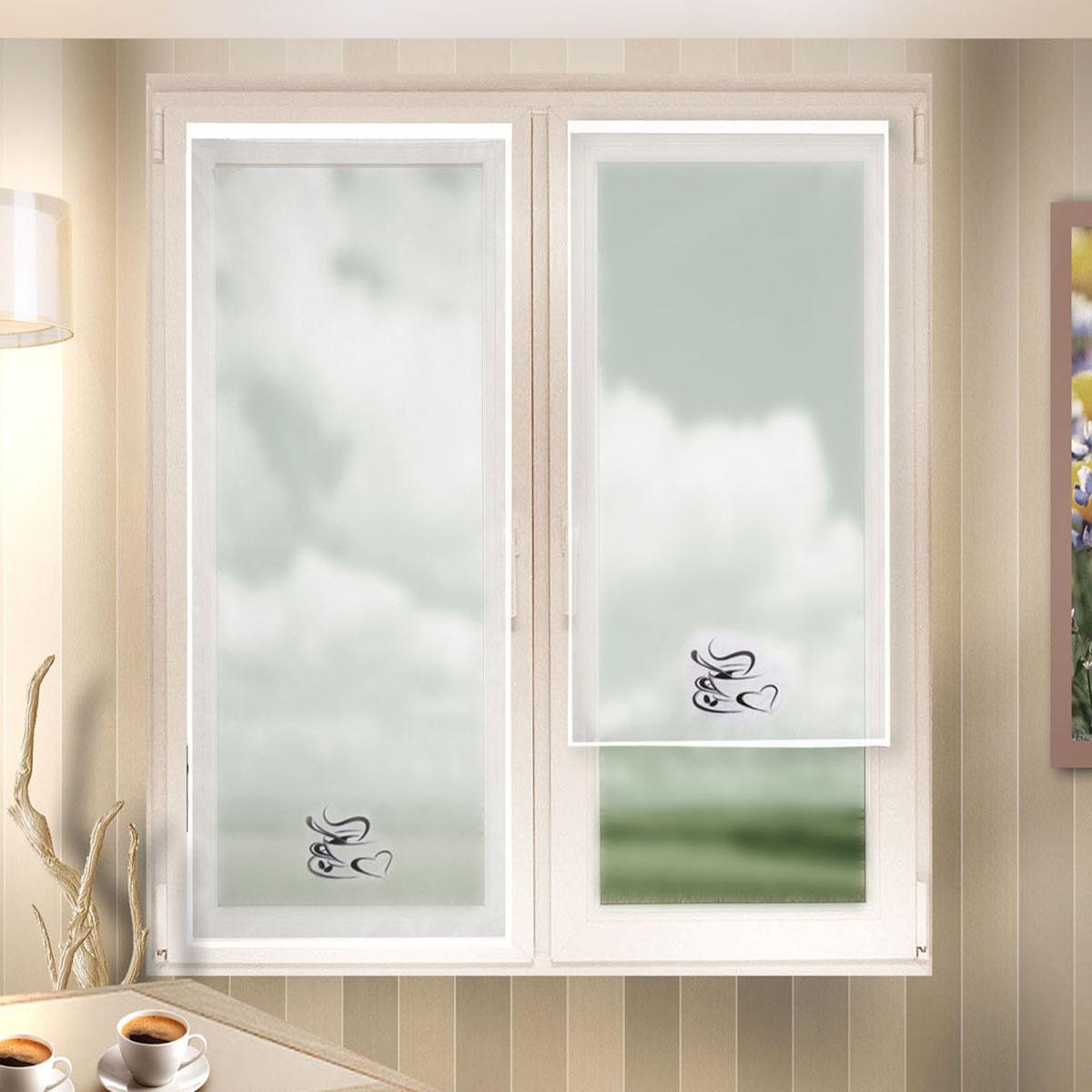 Гардина Zlata Korunka, цвет: белый, ширина 60 см, высота 140 см. 666021MW-3101Лучшая альтернатива рулонным шторам на кухне – шторы на липкой ленте. Особенность этих штор заключается в том, что они имеют липкую основу в месте крепления . Лента или основа надежно и быстро крепится на раму окна, а на нее фиксируется сама штора.Размеры: ширина 60* высота 140
