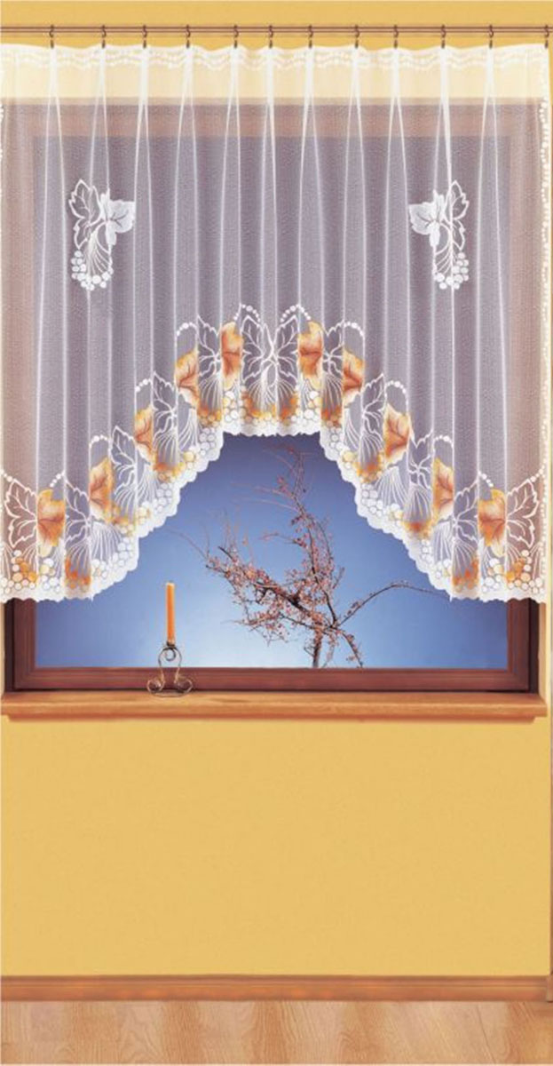 Гардина Wisan, цвет: белый, ширина 300 см, высота 150 см. 930146990/250 бирюзавид крепления - под зажимы для шторРазмеры: ширина 300*высота 150