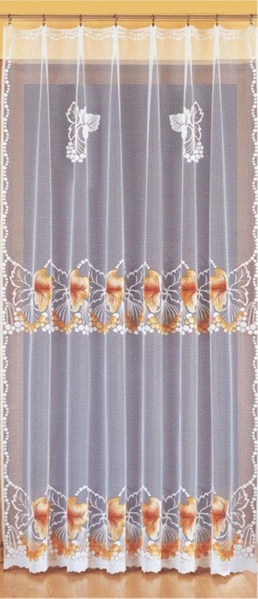 Гардина Wisan, цвет: белый, ширина 200 см, высота 250 см. 931455561вид крепления - под зажимы для шторРазмеры: ш.200* в.250