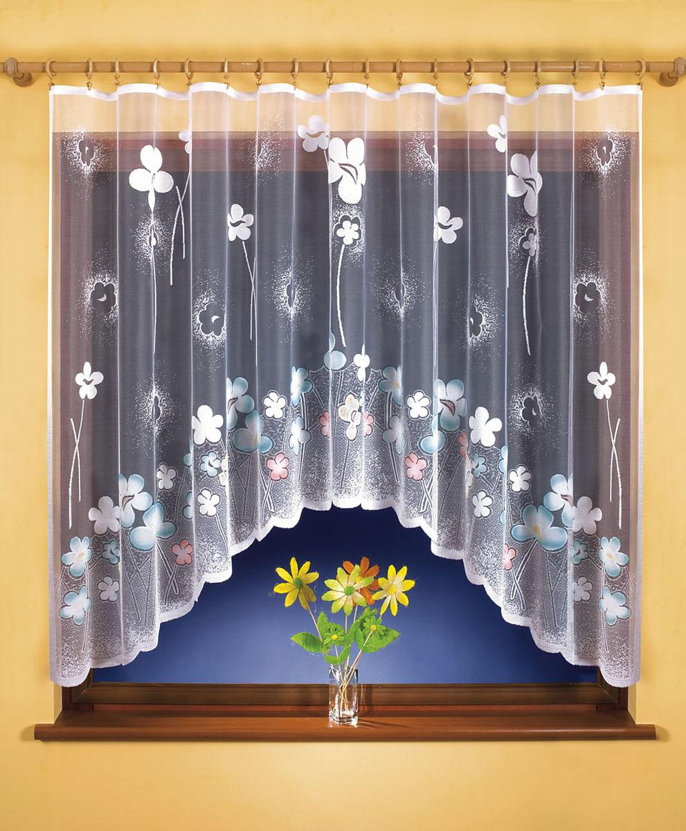Гардина Wisan, цвет: белый, ширина 300 см, высота 160 см. 9501ES-412Гардина жаккардовая, крепление зажимы для штор.Размеры: высота160х ширина300