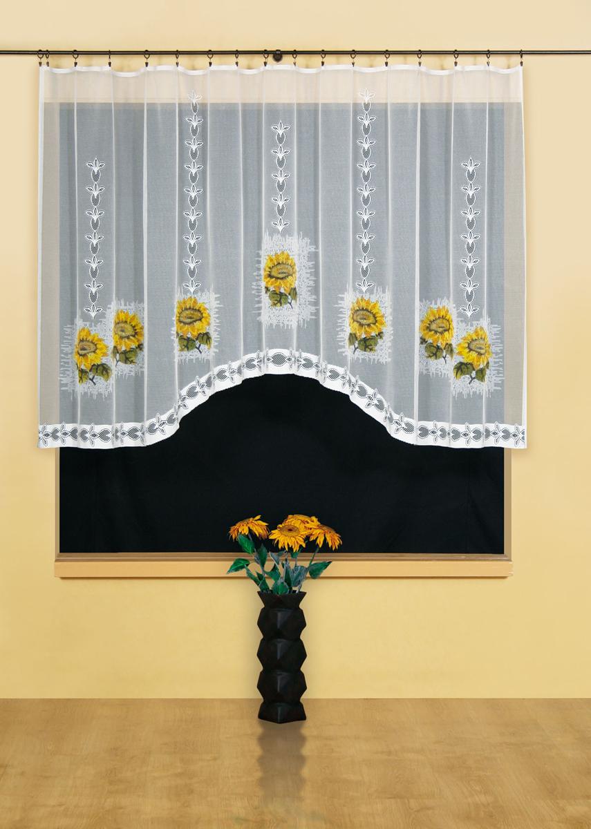 Гардина Wisan, цвет: белый, ширина 300 см, высота 150 см. 955300036-ШД-ГБ-001Гардина жаккардовая, крепление зажимы для штор.Размеры: ширина 300*высота 150