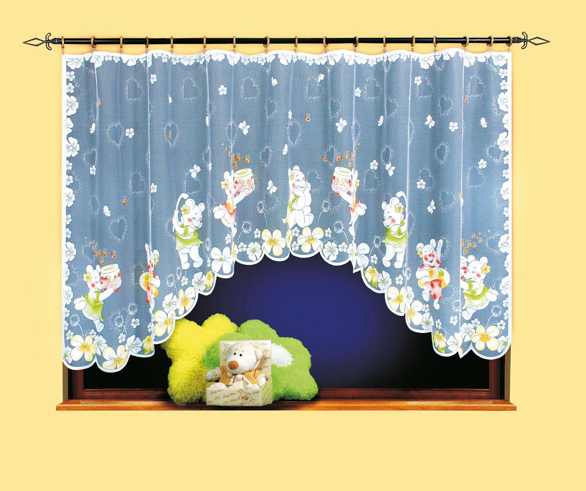 Гардина Wisan, цвет: белый, ширина 300 см, высота 150 см. 96025925вид крепления - под зажимы для шторРазмеры: ширина 300*высота 150