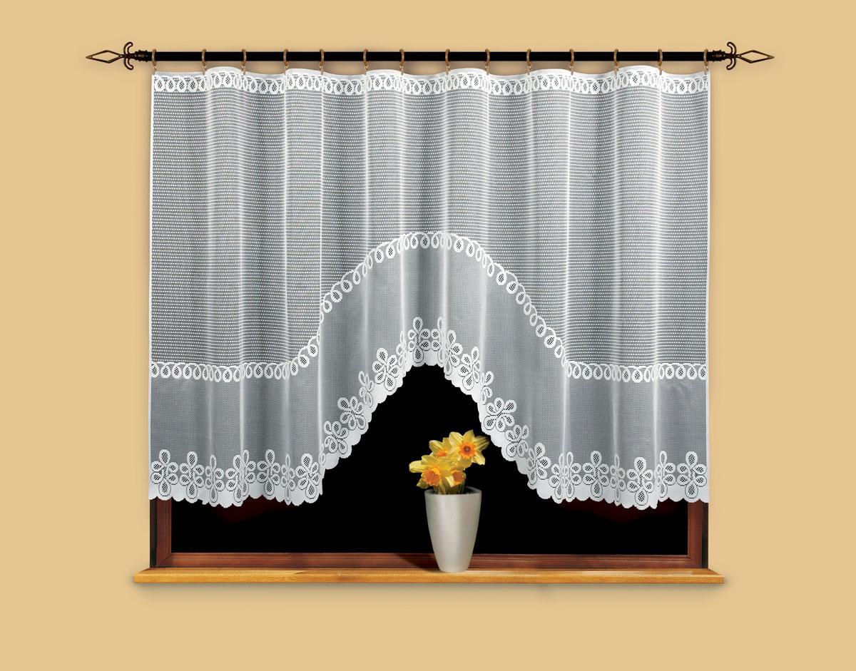 Гардина Wisan, цвет: белый, ширина 300 см, высота 150 см. 9669705517Гардина жаккардовая, крепление зажимы для штор.Размеры: ширина 300*высота 150