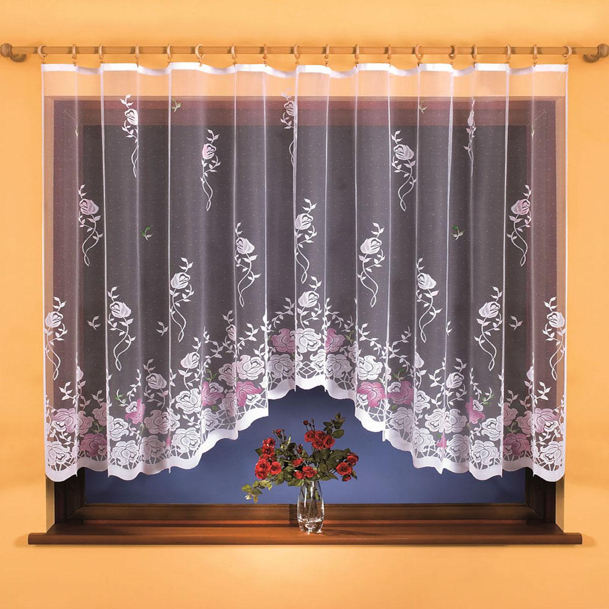Гардина Wisan, цвет: белый, ширина 300 см, высота 150 см. 9701SVC-300вид крепления - под зажимы для шторРазмеры: ширина 300*высота 150