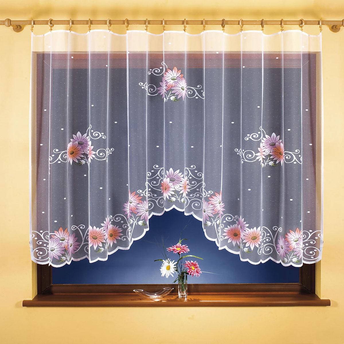 Гардина Wisan, цвет: белый, ширина 300 см, высота 150 см. 9810S03301004вид крепления - под зажимы для шторРазмеры: ширина 300*высота 150