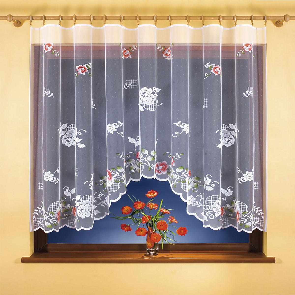 Гардина Wisan, цвет: белый, ширина 300 см, высота 150 см. 9840-1SVC-300вид крепления - под зажимы для шторРазмеры: ширина 300*высота 150