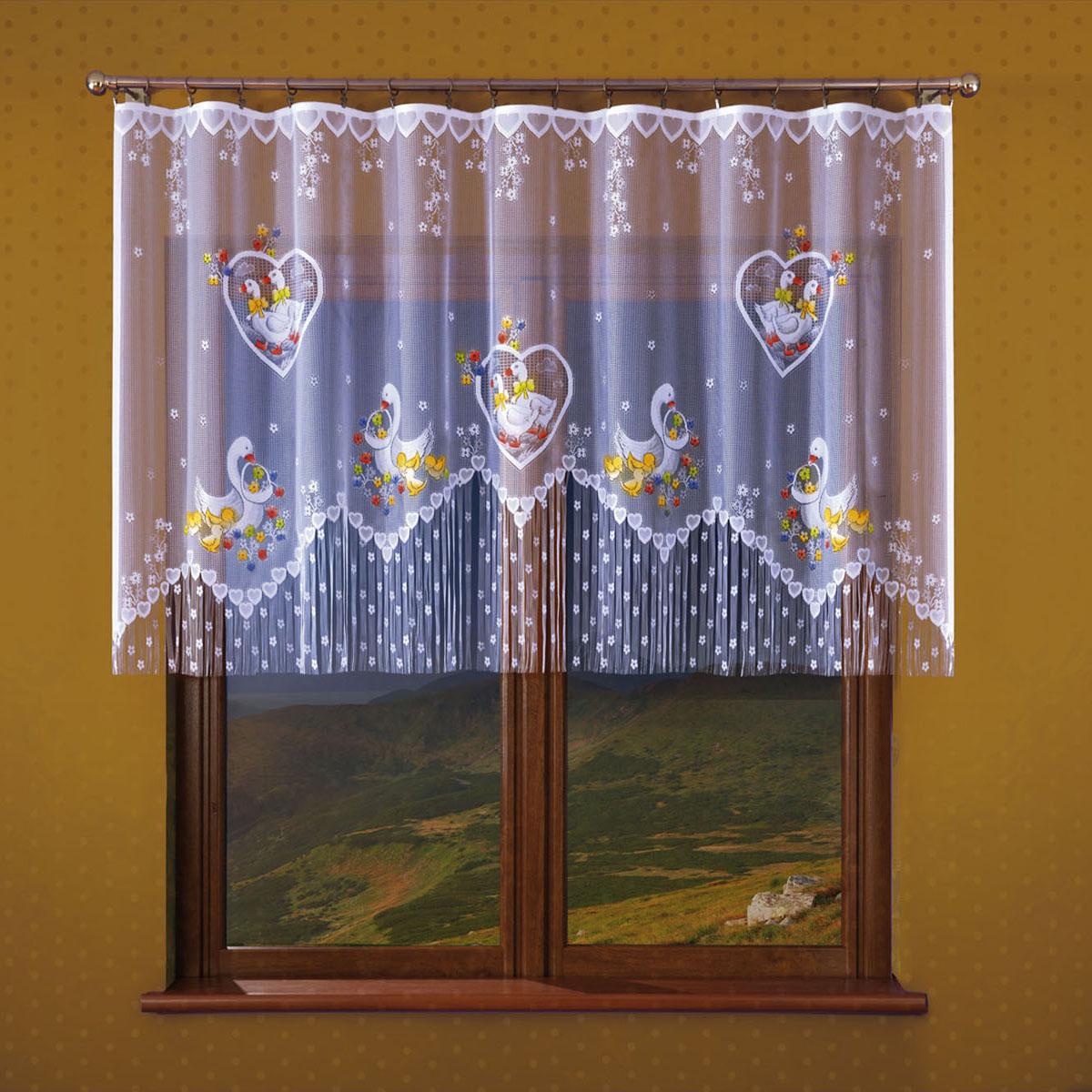 Гардина Wisan, цвет: белый, ширина 250 см, высота 120 см. 179Е46990/250 бордовид крепления - под зажимы для шторРазмеры: ширина 250*высота 120