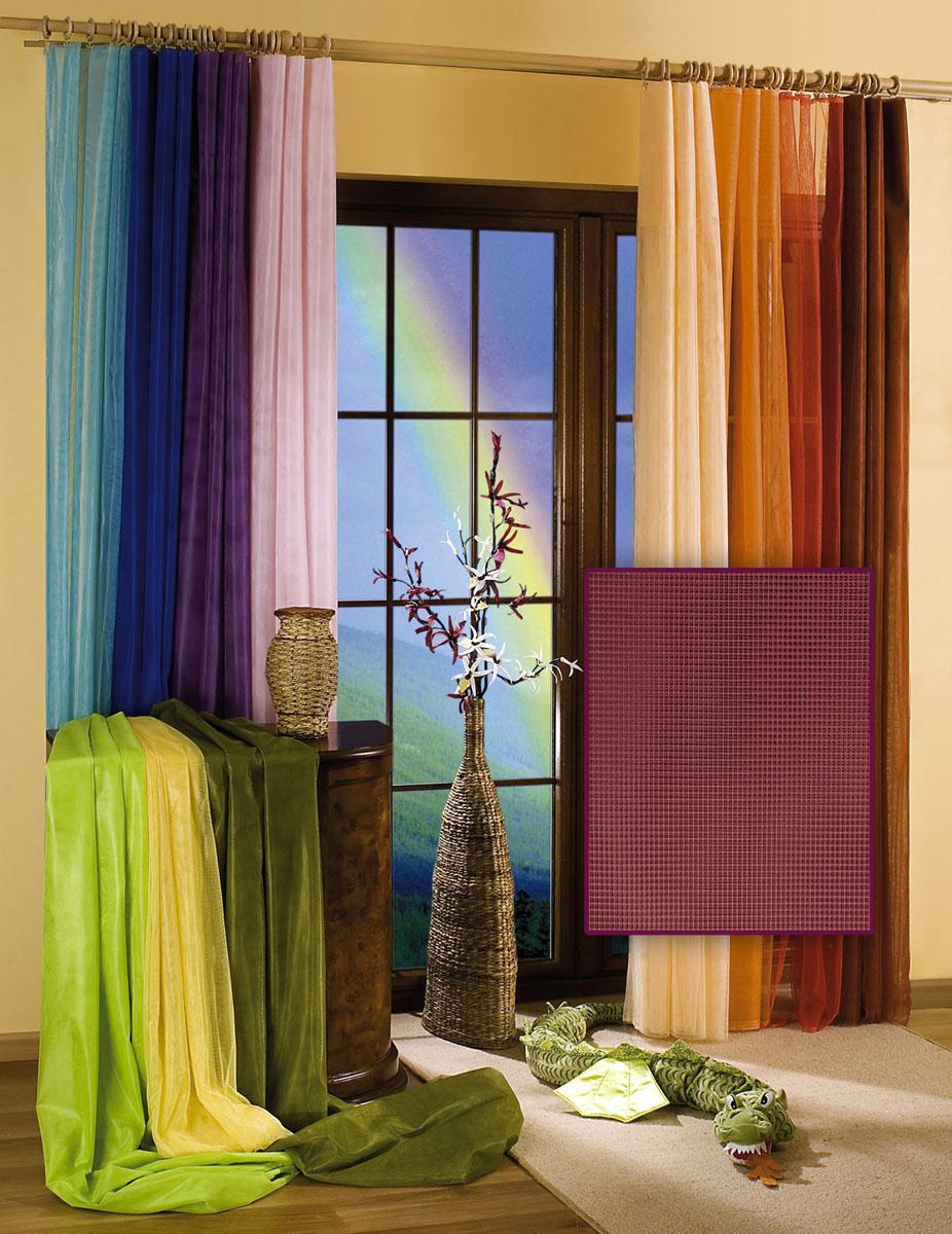 Гардина-тюль Wisan, цвет: фиолетовый, ширина 150 см, высота 250 смS03301004Гардина-тюль из жесткой сеточки, с вшитой шторной лентой.Размеры: ширина 150* высота 250