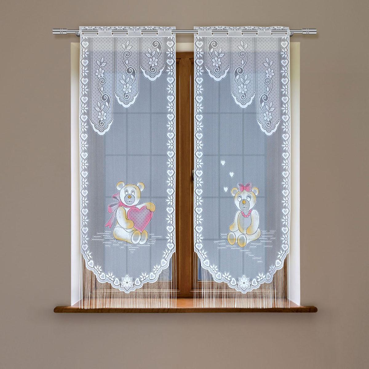 Гардина Haft, цвет: белый, высота 120 см. 8148D/60213970/160Гардина имеет в верхней части полотна прорези, через которые гардина-витраж вывешивается на карниз или можно крепить на зажим для штор,котрый в комплект не входит.Комплект состоит из двух полотен (выс.120* шир.60) Размеры: (высота 120* ширина 60)*2