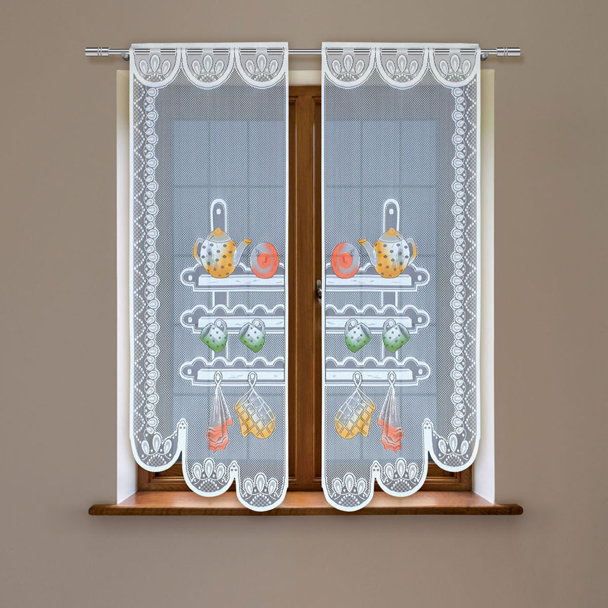 Гардина Haft, цвет: белый, высота 120 см. 8603D/60214250/90Гардина имеет в верхней части полотна прорези, через которые гардина-витраж вывешивается на карниз или можно крепить на зажим для штор,котрый в комплект не входит.Комплект состоит из двух полотен (выс.120* шир.60) Размеры: (высота 120* ширина 60)*2