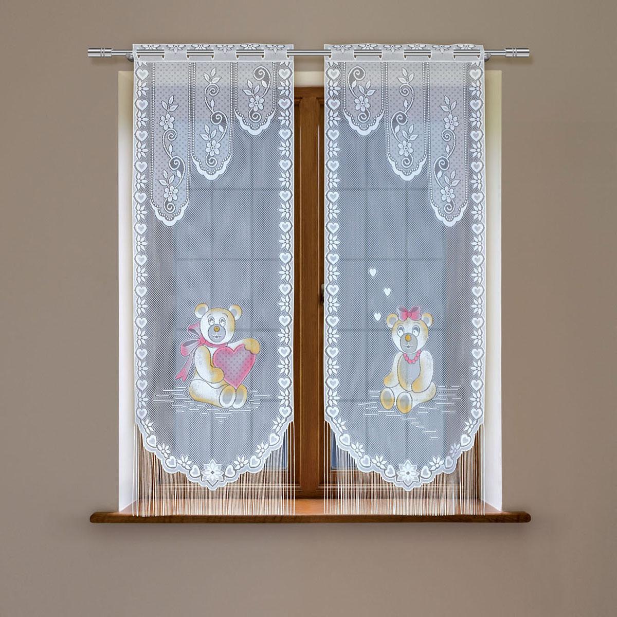 Гардина Haft, цвет: белый, высота 220 см. 8148Е/608148Е/60Гардина-витраж Haft изготовленная из полиэстера, станет изюминкой интерьера вашей комнаты. Гардина имеет в верхней части полотна прорези, через которые вешается на карниз. Гардину можно крепить на зажим для штор, который в комплект не входит.
