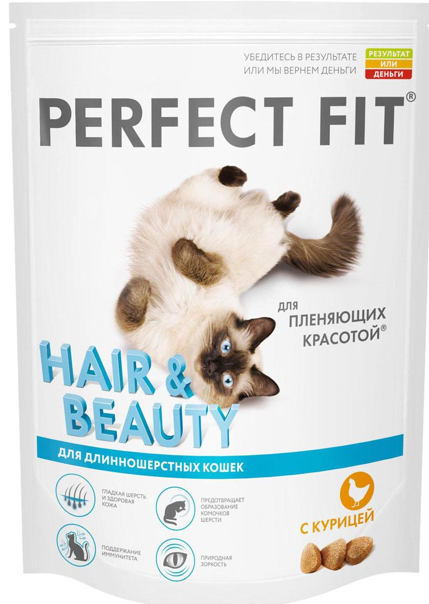 Корм сухой для длинношерстных кошек Perfect Fit, с курицей, 650 г41037