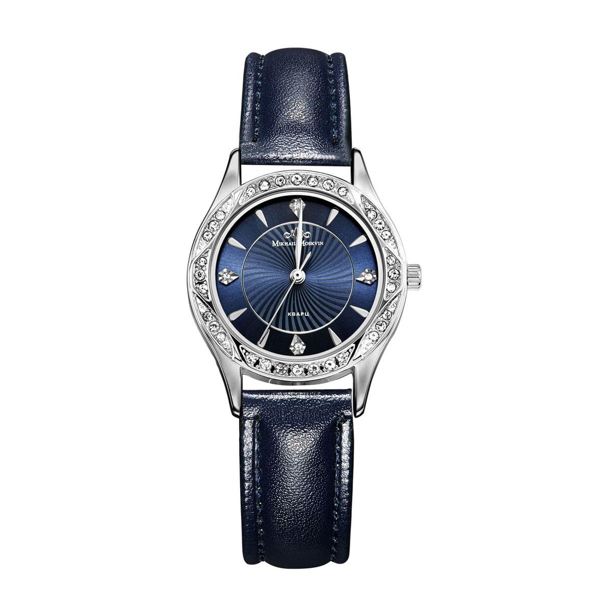 Zakazat.ru: Часы наручные женские Mikhail Moskvin Каприз, цвет: серебристый, темно-синий. 583-6-2