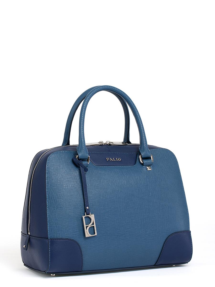 Сумка женская Palio, цвет: темно-синий, синий. 14387A2-W2A-B86-05-CЖенская сумка Palio изготовлена из натуральной кожи с фактурным тиснением. Сумка закрывается на круговую застежку-молнию с двумя бегунками.Сумка имеет одно основное отделение, в котором есть два кармана на застежках-молниях, два кармана для телефона и мелких принадлежностейи открытый карман.Снаружи, с тыльной стороны сумки расположен вшитый карман на застежке-молнии.Изделие оснащено двумя удобными ручками, длинным наплечным ремнем и декорировано съемным брелоком с логотипом фирмы. Основание сумки дополнено четырьмя металлическими ножками, защищающими изделие от механических повреждений.Элегантная и вместительная сумка Palio прекрасно дополнит ваш образ и подчеркнет неповторимый стиль.