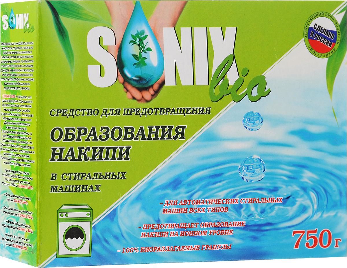 Средство для предотвращения накипи в стиральных машинах SonixBio, 750 гML31201_мягкая упаковкаSonixBio - средство для предотвращения образования накипи и солевых отложений. Увеличивает срок службы стиральной машины. Защищает нагревательные элементы от образования губительного известкового налета. Экономит электроэнергию за счет повышения теплоотдачи нагревательных элементов. Не оказывает вредного воздействия на металлические, пластиковые и резиновые детали машин. Уменьшает износ нагревательных элементов и поверхностей.Состав: триполифосфат натрия, карбонат натрия.Товар сертифицирован.