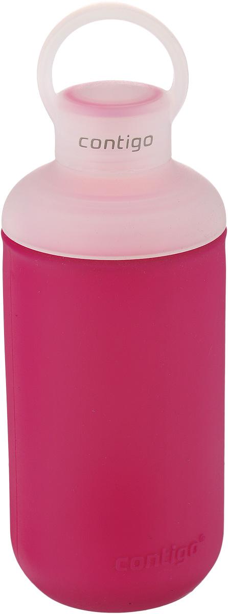 Бутылка для воды Contigo Tranquil, цвет: темно-розовый, белый, 590 млcontigo0333Бутылка для воды Contigo Tranquil изготовлена из высококачественного пластика, безопасного для здоровья. Закручивающаяся крышка обеспечивает защиту от проливания. Оптимальный объем бутылки позволяет взять небольшую порцию напитка. Она легко помещается в сумке или рюкзаке и всегда будет под рукой. Резиновый ободок на корпусе обеспечивает надежный хват и комфорт во время использования. Такая идеальная бутылка небольшого размера, но отличной вместимости наполняет оптимизмом, даря заряд позитива и хорошего настроения. Бутылка для водыContigo Tranquil - отличное решение для прогулки, пикника, автомобильной поездки, занятий спортом и фитнесом. Высота бутылки (с учетом крышки): 22 см.Диаметр дна: 6,3 см.