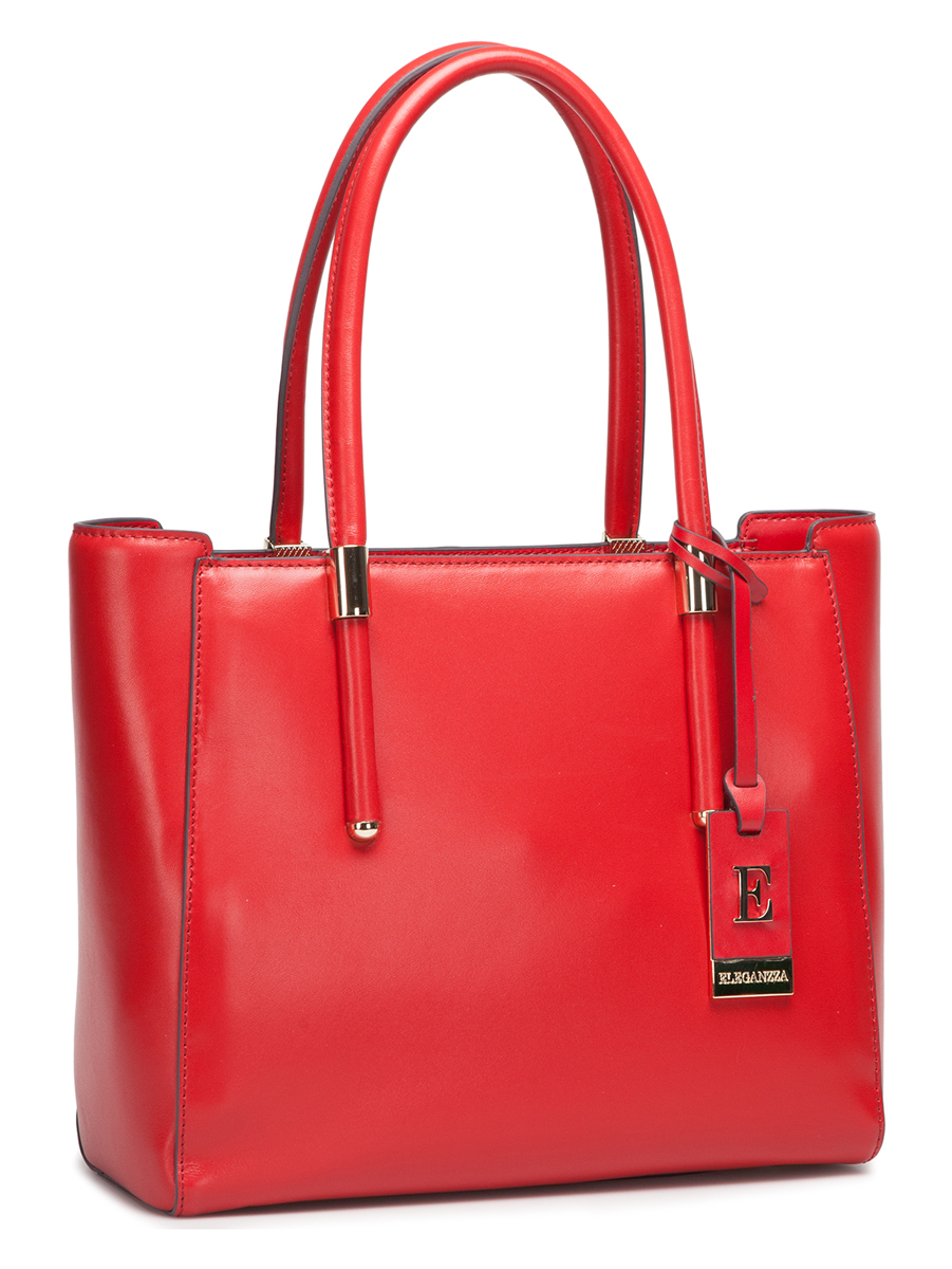 Сумка женская Eleganzza, цвет: красный. Z-2750-1S76245Женская сумка Eleganzza изготовлена из натуральной кожи и закрывается на металлическую застежку-молнию. Сумка имеет одно основное отделение, в котором есть один карман на застежке-молнии и два кармана для мобильного телефона и мелких принадлежностей.Изделие оснащено двумя удобными ручками для переноски, а основание сумки защищено от повреждений четырьмя металлическими ножками. Модель декорирована съемным брелоком из металлического сплава и натуральной кожи.Яркая и вместительная сумка Eleganzza прекрасно дополнит ваш образ и подчеркнет неповторимый стиль!