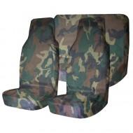 Комплект грязезащитных чехлов на передние и заднее сиденья Tplus, с мешком для хранения, цвет: нато, 3 штVT-1520(SR)Защитные чехлы Tplus предохранят сиденья вашего автомобиля от загрязнений. Чехлы выполнены из прочного и износостойкого материала - оксфорда. Чехлы легко моются и подходят на все типы сидений. На тыльной стороне расположен карман. Чехлы комплектуются удобным мешком для хранения.
