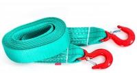 Буксировочный ремень Tplus, крюк/крюк, 4/6 т (авто до 3 т), 4,5 м крюк вытяжной 4 т jtc yc105