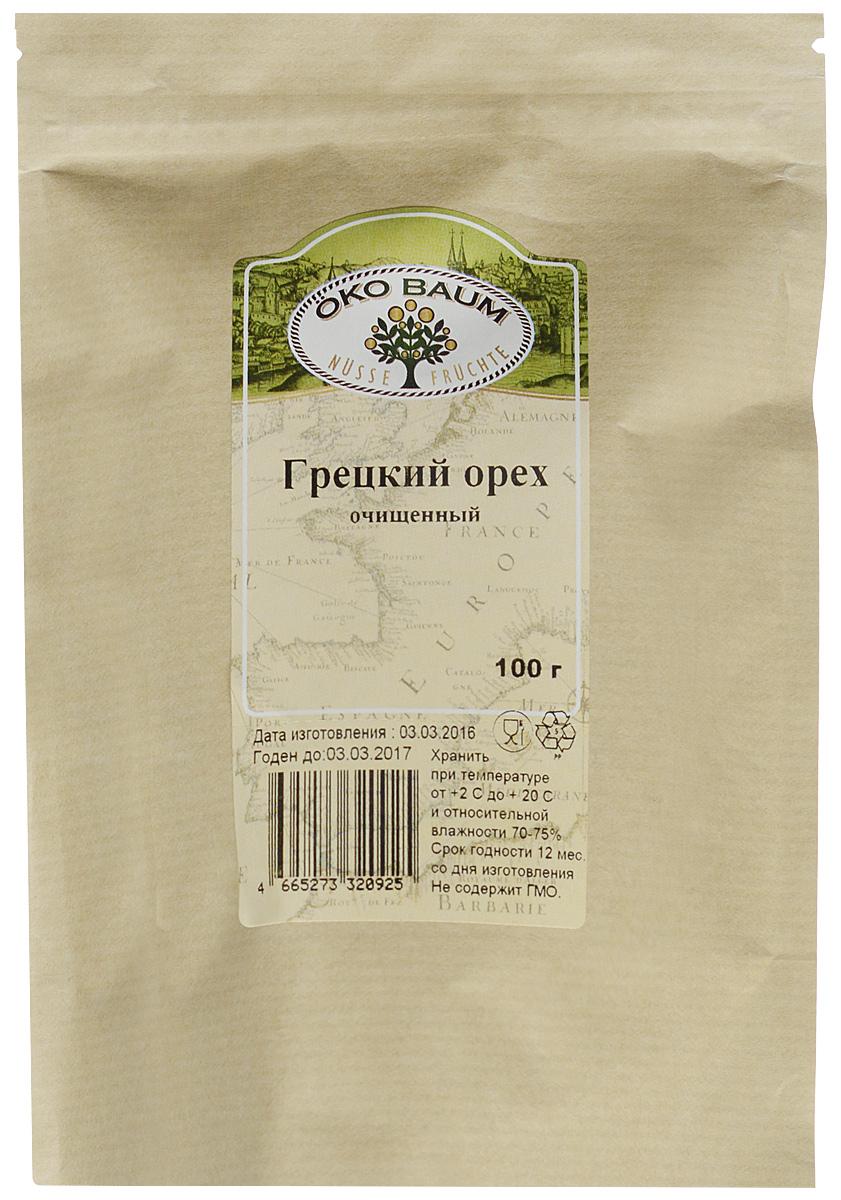 Oko Baum грецкий орех очищенный, 100 г0120710Грецкий орех – лакомство, знакомое с самых давних времен. Он завоевывает все больше поклонников по всему миру, используется почти во всех кухнях. По совокупности полезных свойств нам трудно найти равных грецкому ореху в растительном мире. Состав грецкого ореха огромен. Он содержит массу микроэлементов и витаминов. Кремний, медь, железо, натрий, кобальт, железо, цинк восстанавливают организм и продлевают молодость. Богат он и на витамины группы В, РР, С, Е, А, в составе много ненасыщенных жирных кислот, стероиды, алкалоиды, клетчатка, необходимый для организма белок. Имеет более 20 аминокислот, в том числе незаменимые. По содержанию аскорбиновой кислоты продукт превышает даже смородину и цитрусовые. В сезон простуды и гриппа он просто незаменим. Многие заболевания лечит этот чудо-продукт. В орехе удивительным образом сочетается польза и вкус. Грецкий орех нужно съедать каждый день в количестве 3-4 ядер. Здоровым людям можно есть немного больше.