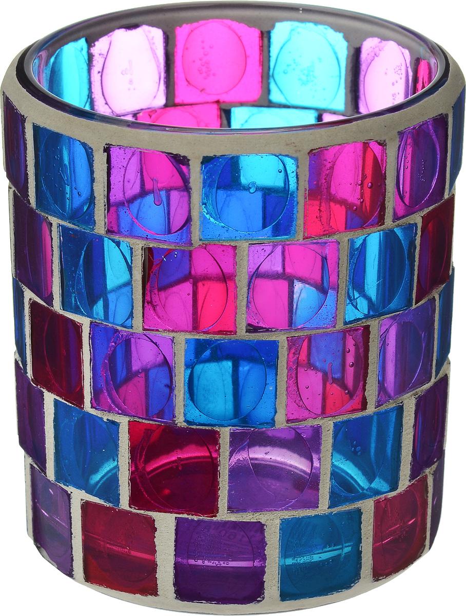 Подсвечник для чайной свечи Gardman Florence, диаметр 7,5 см25051 7_желтыйПодсвечник для чайной свечи Gardman Florence изготовлен из стекла в виде стакана и украшен разноцветной мозаикой. Изделие предназначено для чайной свечи. Мерцание огня в таком стакане поможет создать в доме неповторимую атмосферу романтики и уюта.