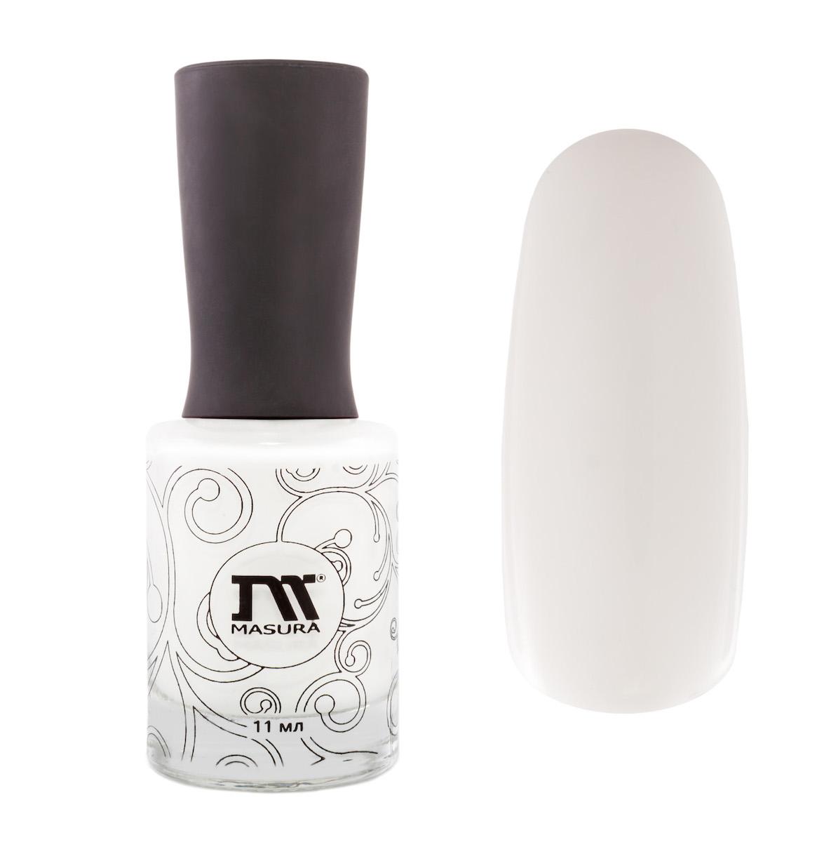 Masura Лак для ногтей Белый Танец, 11 мл6Кипельно-белый, для французского маникюра.