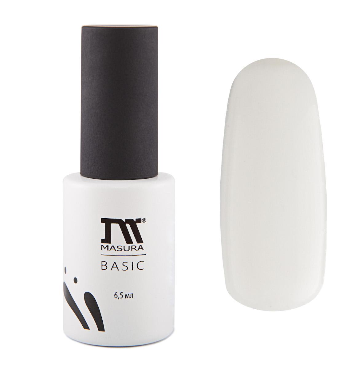Masura BASIC White Base/Белая основа для гель-лаков 6,5 мл13101023Белая базарекомендуется для применения с неплотными, полупрозрачными цветными гель-лаками.Требует применения праймера (артикул 312).