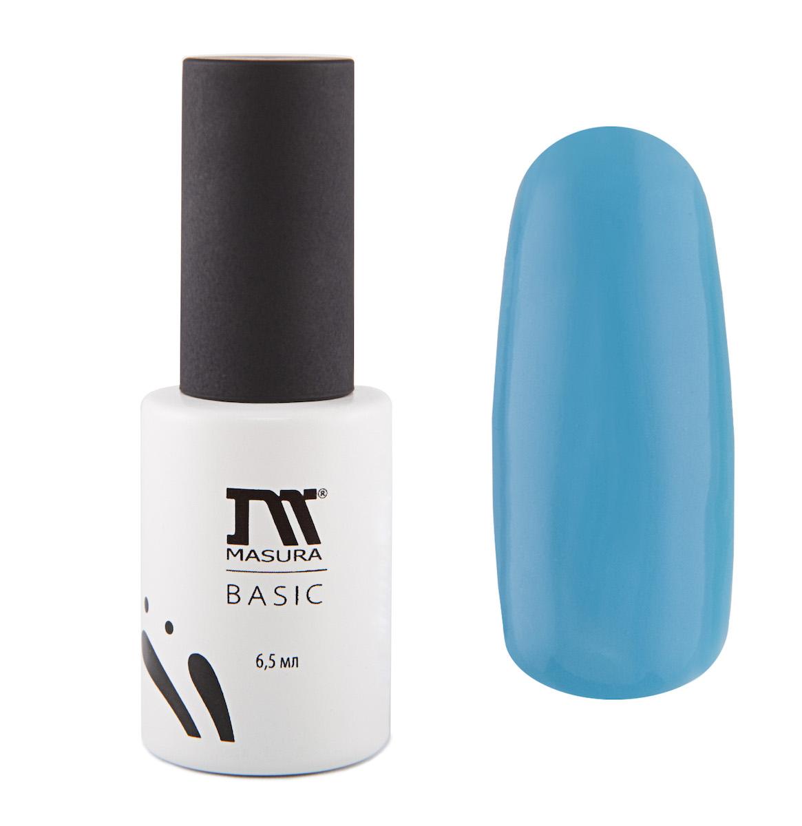 Masura Гель-лак BASIC Мечты сбываются 6,5 мл78116Небесно-голубой, без блесток и перламутра, плотный