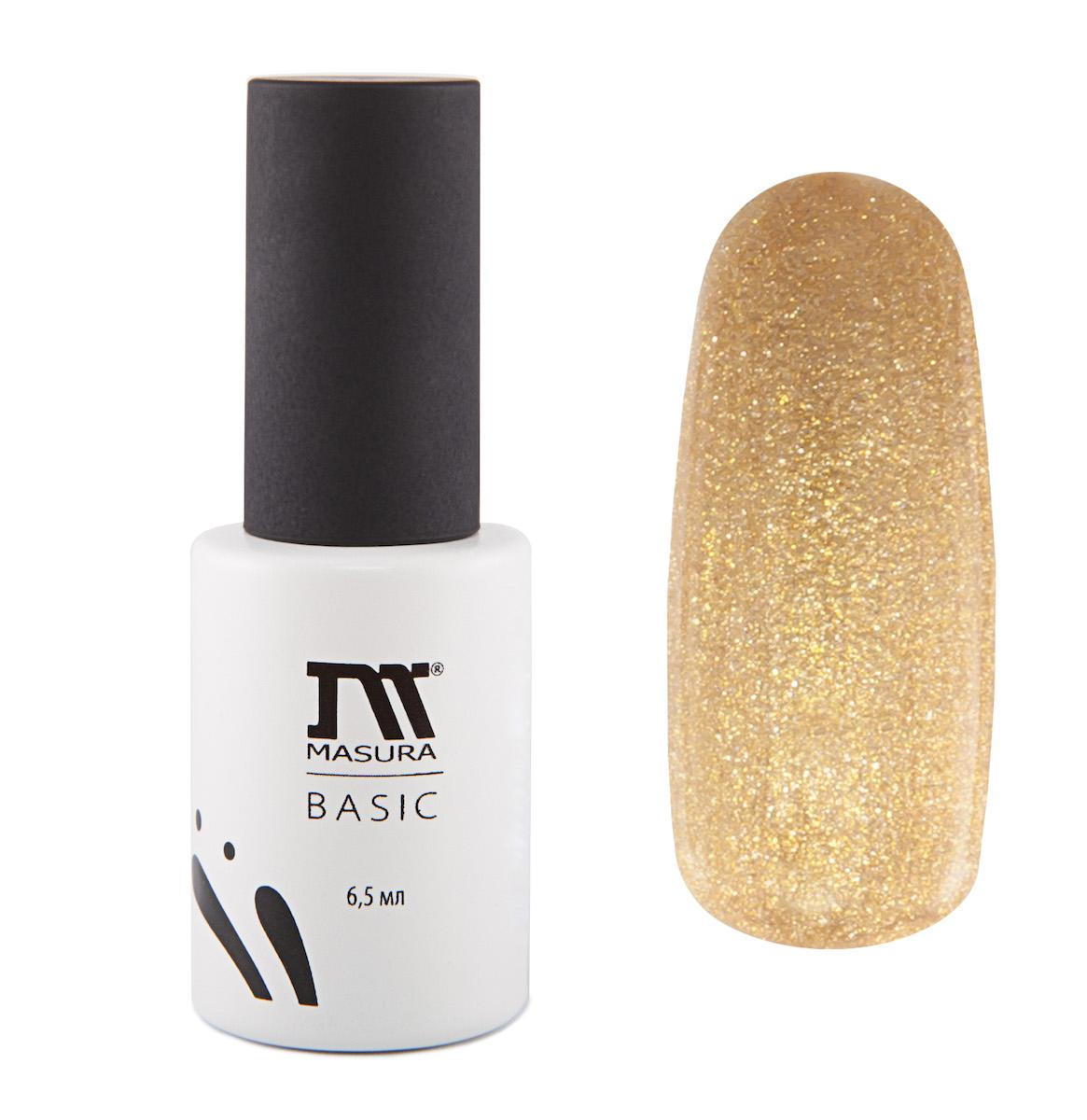 Masura Гель-лаки BASIC Загадка Востока, 6,5 мл5010777139655Насыщенный золотой, все теплые оттенки золота, плотный