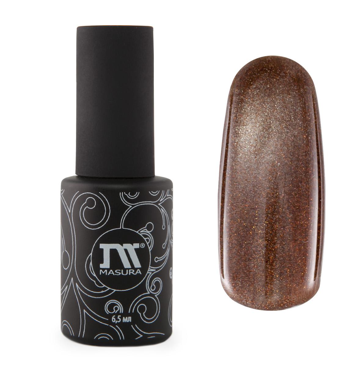 Masura Гель-лак Шапка Мономаха, 6,5 мл78118золотисто-коричневый с зеркальным переливом, с золотыми микроблестками, плотный