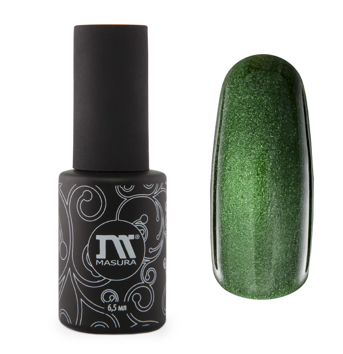 Masura Гель-лак Фаберже, 6,5 мл30073664066теплый изумрудно-зеленый, с зеркальным переливом, плотный