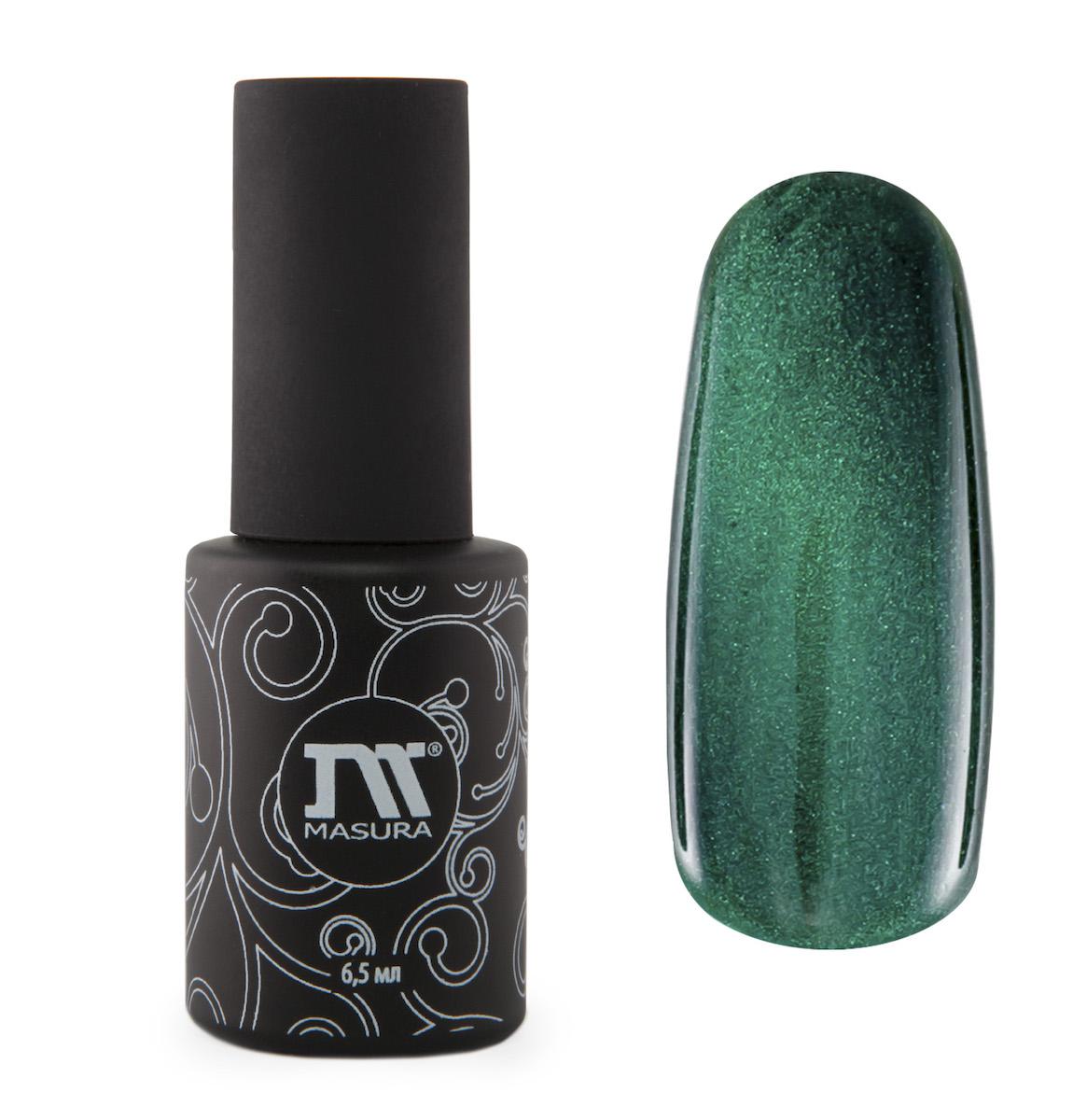 Masura Гель-лак Камея Императрицы, 6,5 мл685684изумрудно-зеленый с холодным подтоном, с зеркальным переливом, плотный