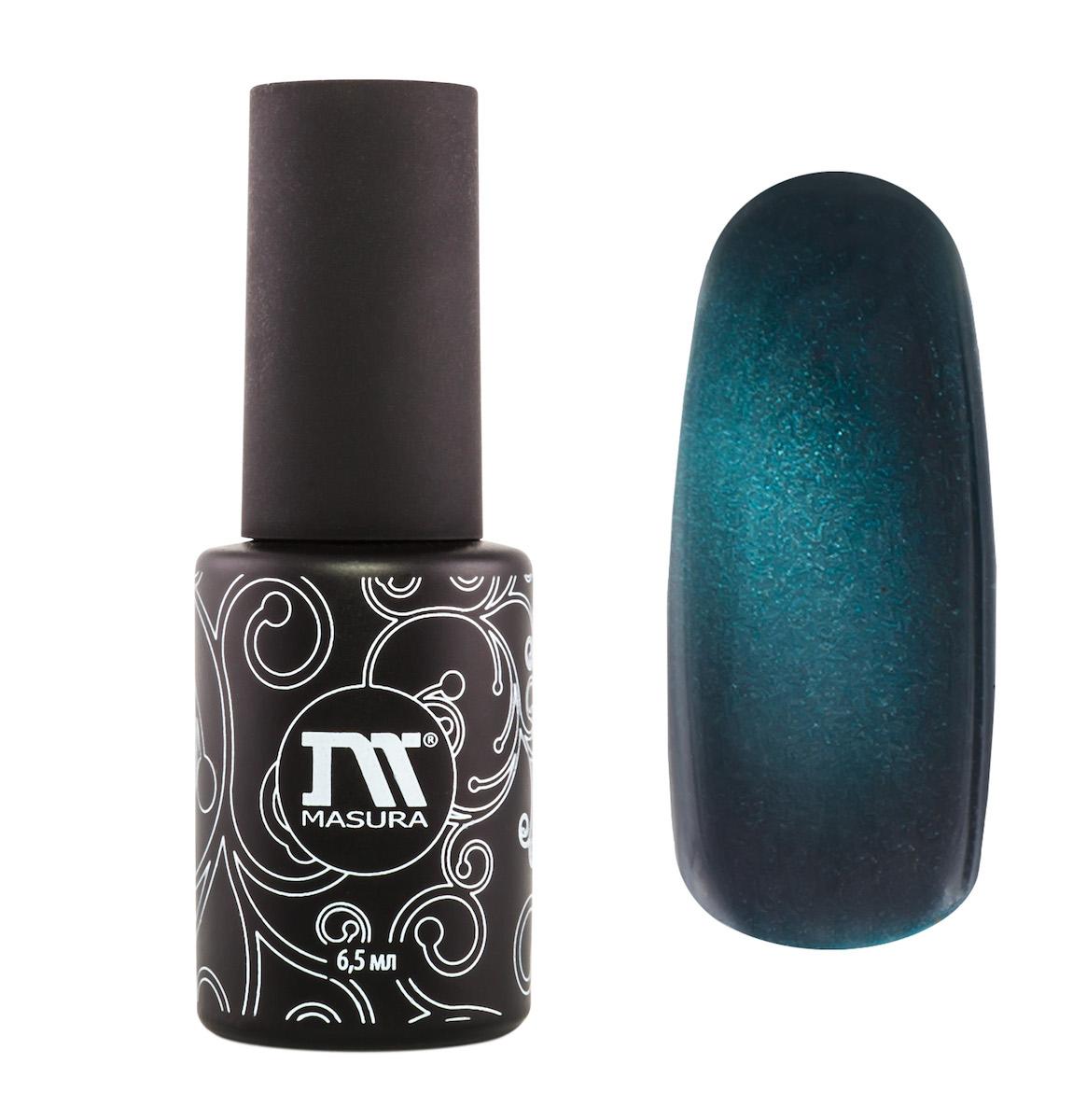 Masura Гель-лак Французская Тиара, 6,5 мл30536046178бирюзовый с голубым подтоном, с зеркальным переливом, плотный