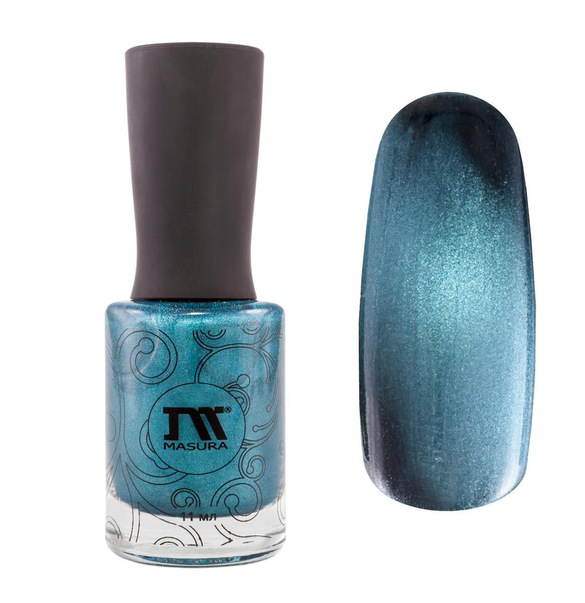 Masura Лак для ногтей Небесный Сапфир, 11 мл6небесно-синий