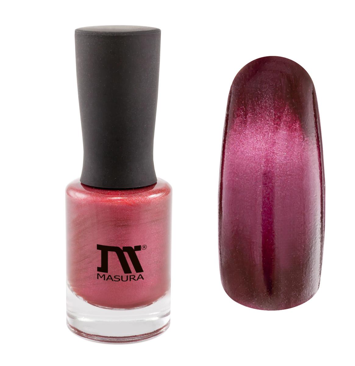 Masura Лак для ногтей Родонит Успеха, 11 млSC-FM20104глубокий вишневый, с розовым подтоном, плотный