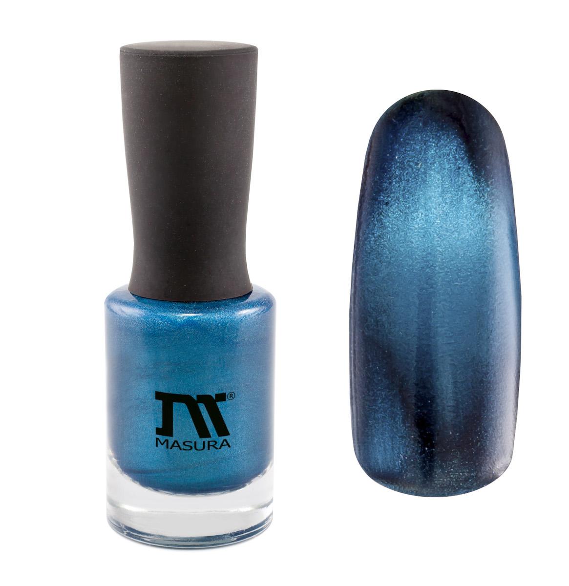 Masura Лак для ногтей Горный Азурит, 11 мл101300391насыщенный глубокий синий, с голубым подтоном, плотный