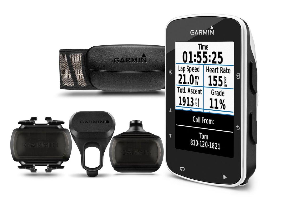 """Велокомпьютер Garmin Edge 520 HRM+CAD. 010-01369-00Z90 blackEdge 520 – велокомпьютер с GPS-приемником, который отлично подходит для любителей соревнований и включает все необходимые функции. -Задания с сегментами Strava в режиме реального времени-Выдает значения VO2 max для велоспорта и время восстановления при использовании с измерителем мощности и пульсометром-Сопряжение с совместимыми тренажерами ANT+® в закрытых помещениях для отображения данных и управления-Отслеживает функциональную пороговую мощность (FTP), ватты/кг и данные велосипедной динамики при использовании с измерителем мощности Vector или Vector 2-Подключаемые функции?: автоматическая загрузка данных, «живое слежение», оповещения от смартфона, прием/ передача дистанций, публикации в социальных сетях, прогнозы погоды-цветной сенсорный дисплей-разрешение 200x265 пикс.-количество путевых точек - 200-ПО: Garmin-водонепроницаемый корпус-питание от аккумулятора-работа от прикуривателя-совместимость с велосипедным радаром и фарами Varia, совместимость с пульсом дистанционного управления Edge, LiveTrack (живое слежение), расширенный анализ параметров эффективности и мощности, включая """"Time in Zone"""" (время в зоне), отслеживание данных FTP, оценочные данные VO2 для велосипедистов, время восстановления и данные велосипедной динамики, профиль велотренажера для отображения данных и управления совместимым тренажером Turbo, совместимость с сегментами на устройстве для динамичных и увлекательных соревнований, подключаемые функции при использовании смартфона, совместимость с приложениями Garmin Connect и Garmin Connect Mobile, совместимость с экшн-камерами VIRB, Интеграция с электронной системой переключения передач Shimano Di2, метеорологические предупреждения, оповещения от смартфона"""