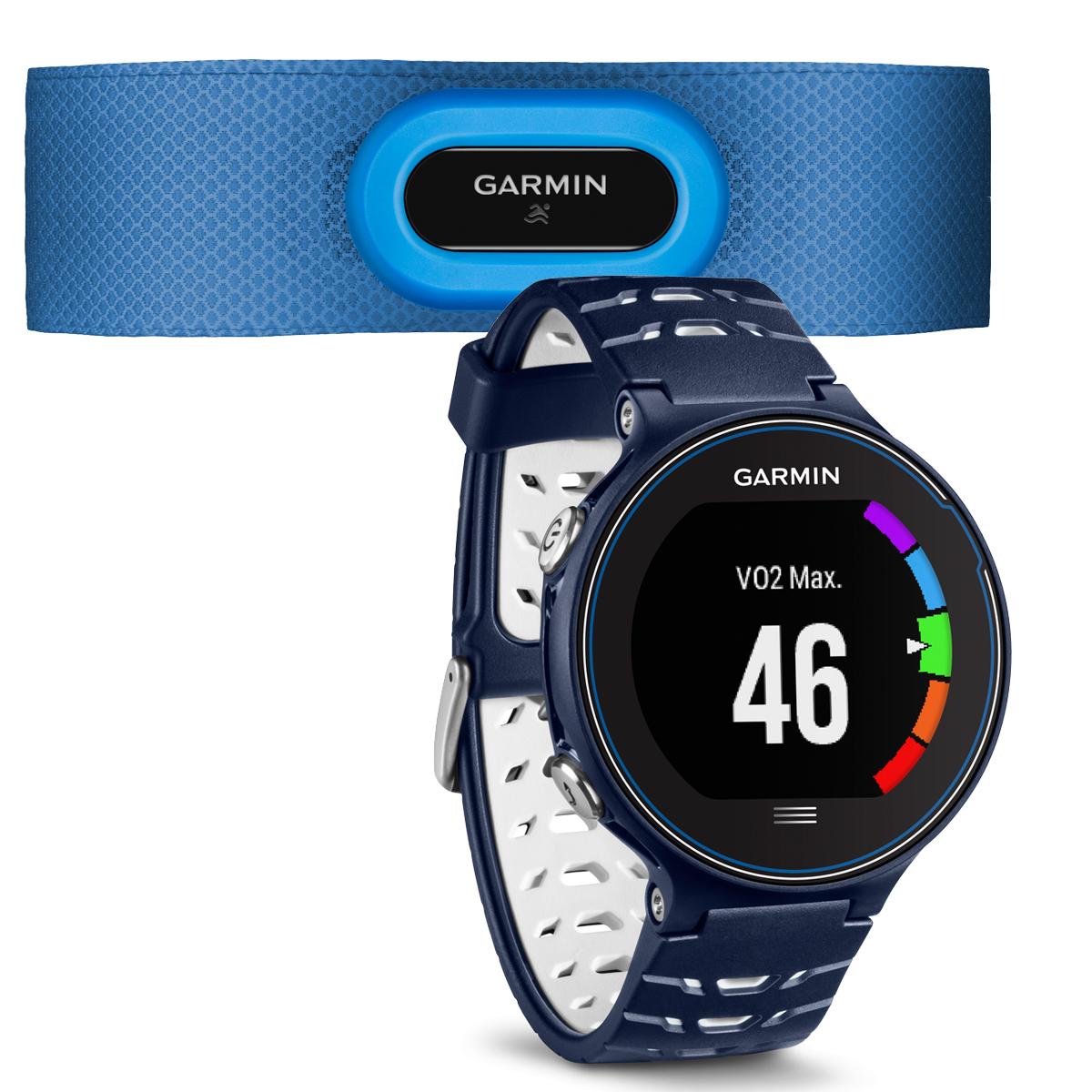 Спортивные часы Garmin Forerunner 630 HRM, цвет: темно-синий. 010-03717-31010-03717-31Смарт-часыGPSс расширенными беговыми даннымиМониторинг: Физической активности;Калорий;СнаДатчики: GPS- трекер;Сердечного ритма;Пульсометр;Шагомер;Счетчик калорий;АкселерометрОсобенности: Влагозащищенный;Оповещения со смартфона;Часы;Водонепроницаемый;Умный тренер (Smart Coach )Совместимое ОС: GARMINМатериал корпуса: ПластикМатериал ремешка/браслета: ПластикДлина ремешка: 16 см Время работы: 4 неделиИнтерфейс: BluetoothМетод зарядки: microUSB 2.0Вид аккумулятора: Li-ionЕмкость аккумулятора: 300 mA